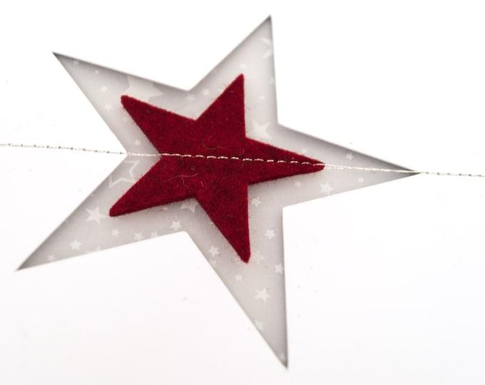 quadu Christmas Card - A6 Star - white