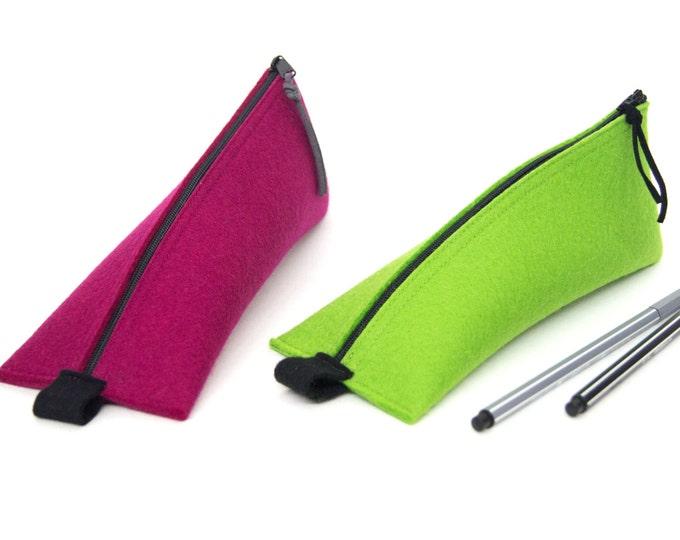 quadu pen case - pencil case made of wool felt