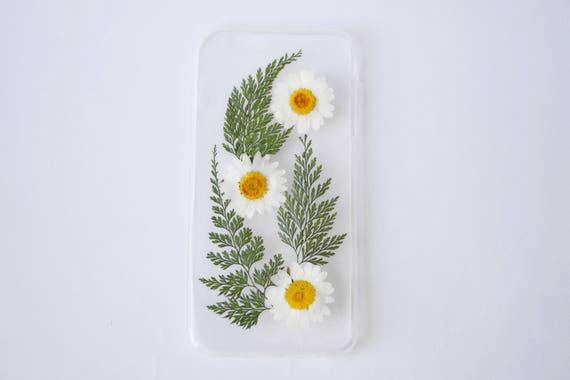 pressé de cas de téléphone fleur pressée fleur iphone étui samsung galaxy s8 étui iphone 6 s cas floral samsung téléphone affaire vraies fleurs téléphone