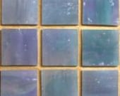 20mm Square Glacier Collection Stained Glass Mosaic Tiles (25 Tiles) - Northern Lights