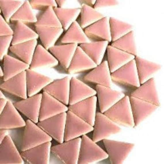 50g Various Colours Glazed Ceramic Triangles for Craft Mosaics