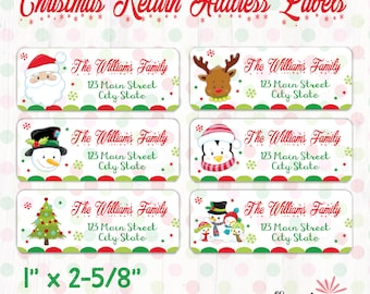 graphic about Printable Christmas Address Labels referred to as Xmas protect labels printable Etsy