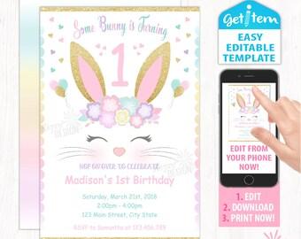 bunny birthday etsy