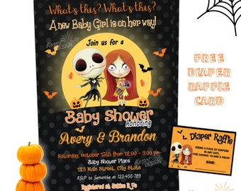 Nightmare before christmas baby shower invitations etsy filmwisefo