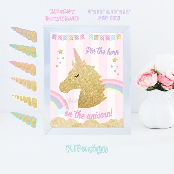 graphic regarding Pin the Horn on the Unicorn Printable named Pin The Horn upon the Unicorn, Unicorn Social gathering Recreation, Unicorn Social gathering Props, Unicorn Birthday, Printable Online games