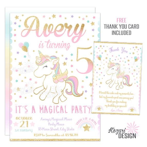 Invitation Anniversaire à Imprimer Licorne Anniversaire Invitation Invitation Anniversaire Magique