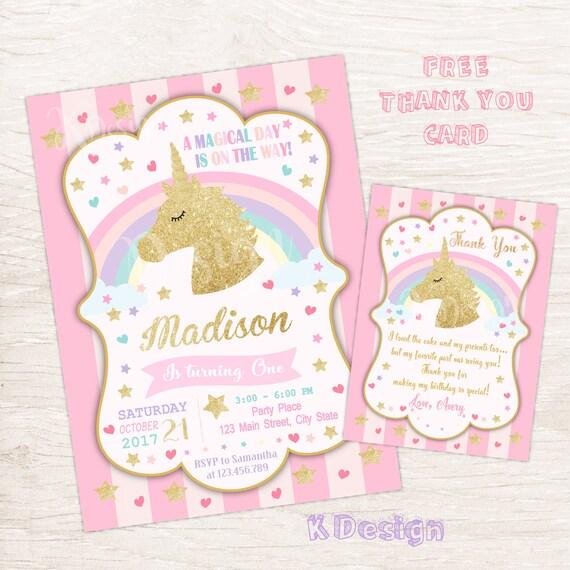Invitation Anniversaire à Imprimer De Licorne Invitation Invitation Anniversaire Magique