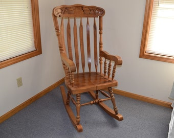Antique Sewing Nursing Rocker Low Armless Wooden Victorian