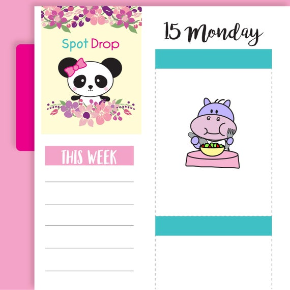 hp35 hippo meal planner stickers hippo eating planner etsy