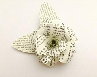 Book brooch / brooch / upcycling / pin / paper rose