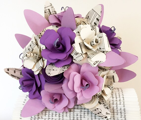Papierblumen Strauss Hochzeitsstrauss Standesamt Etsy