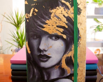 Hand painted Taylor Swift moleskine notebook