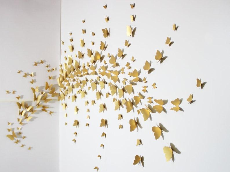 3d butterfly wall art for making stunning designs. (3dforwalls)