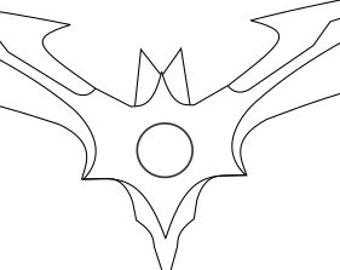 Injustice 2 Batarang Blueprint