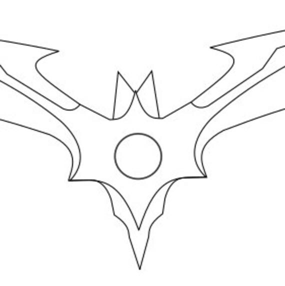 injustice 2 batarang blueprint etsy