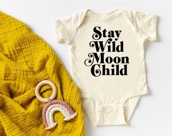 Stay Wild handprinted Infant Baby Rib One Piece Onesie
