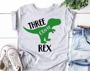 I am 3 Personalised Kids Dinosaur t-shirt- I am 1,I am 2 I am 4 for birthdays