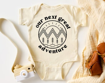 Our Next Great Adventure, Baby Bodysuit, Baby Announcement, Pregnancy Announcement, Pregnancy Reveal, Our Greatest Adventure Begins, Unisex