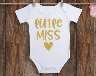Baby Girl Clothes, Baby Girl Onesie, Baby Girl Coming Home Outfit, Cute Onesie, Funny Onesie, Baby Girl Gift, Baby Shower Gift, Little Miss