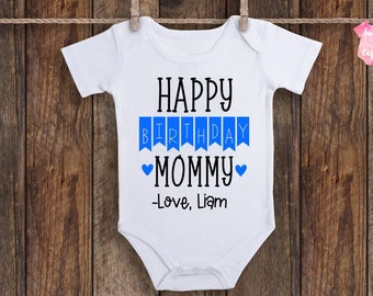 Happy Birthday Mommy Onesie Baby Outfit Gift For Mom Her