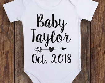2e9f4623c Baby Onesie Announcement, Custom Baby Onesie, Pregnancy Announcement Onesie,  Baby Onesie, Personalized Baby Onesie, Baby Shower Gift, Baby