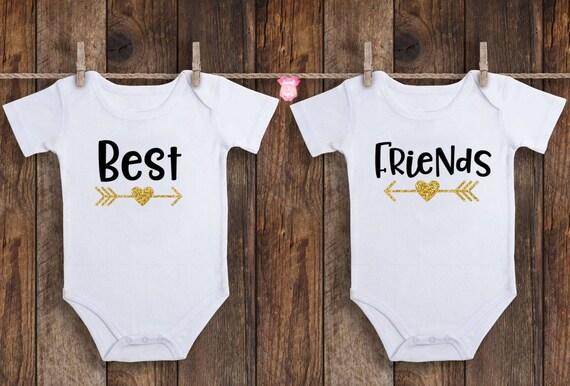 Best Friends Baby Onesies Twin Onesies Best Friends Twin Etsy
