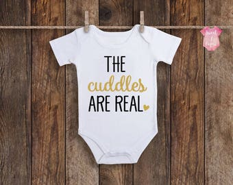 Baby Girl Onesie, Funny Onesie, Funny Baby Girl Onesie, Baby Girl Clothes, Baby Girl Gift, The Snuggles Is Real Onesie, Baby Girl Outfit