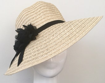 Stylish Straw Hat Flower Straw Hat Wide Brim Straw Hat Women s Summer Hat  Foldable Straw Hat 87bfa3ba4baa