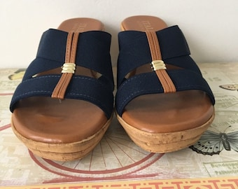c69c43f41755 Women s Wedge Sandals Size 8M Summer Sandals Italian Shoemakers Sandals  Almost New Shoes