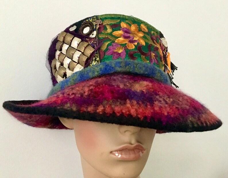c24d634b137 Steampunk Hat Tribal Hat Ethnic Hats Unique Felted Hat Trendy