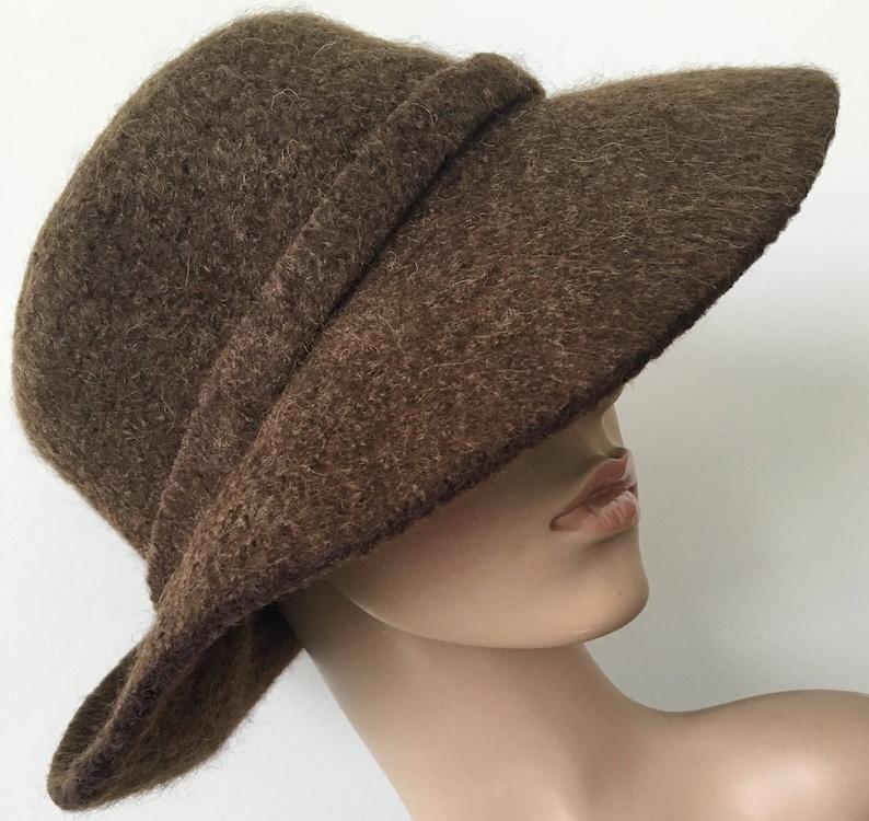 e5eed5aa223 Wool Cloche Hat Felted Wool Hat Felted Hats Women Handmade