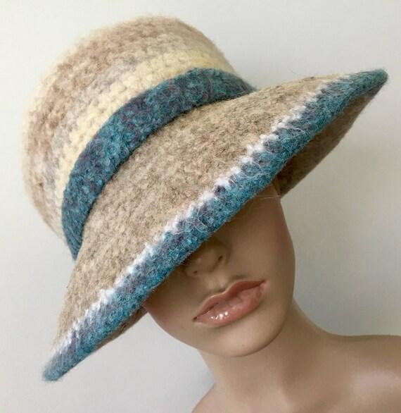 8d152e0b97c Wool Hat Felt Hat Wide Brim Hat Handmade Felted Hat