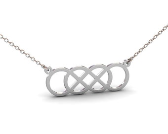 Double infinity necklace etsy double infinity necklace in sterling silver metal silver infinity necklace dainty infinity necklace infinity jewelry christmas gift aloadofball Image collections