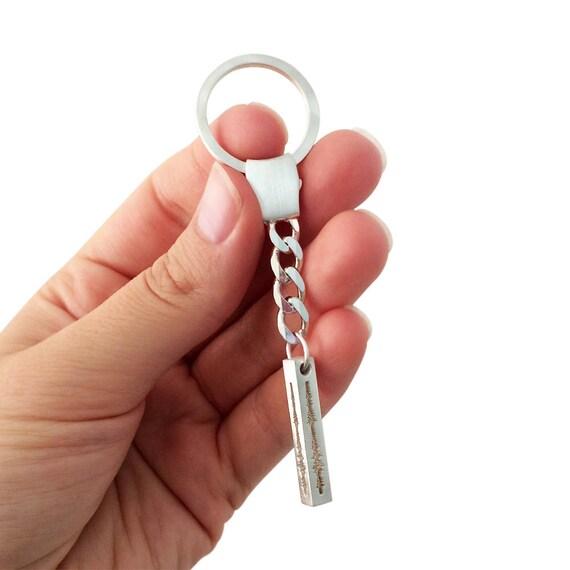 Personnalisé donde sonore cubique Bar porte-clés porte-clés   Etsy 122452a7724