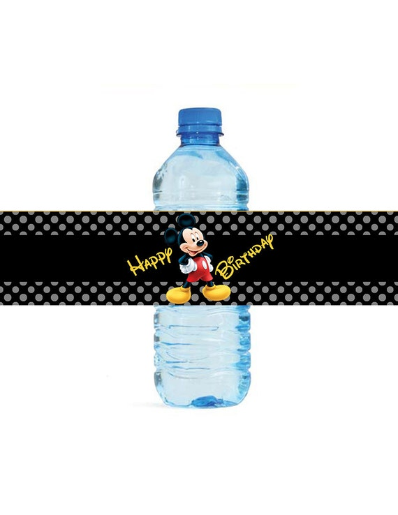 Personalizado Disney Etiqueta de nombre para chicos o chicas Vinilo botella de agua