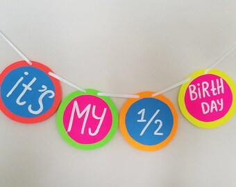 Bithday Banner Happy Birthday 6 Month Decorationhalf 1 2 Decoration