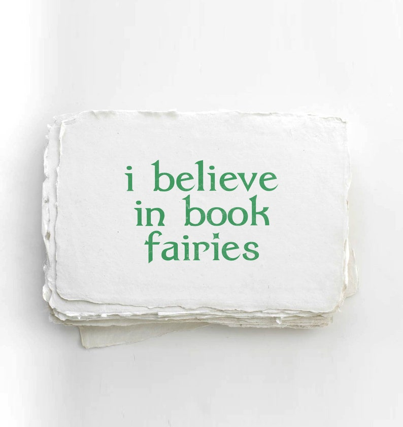 I Believe In Book Fairies Eco Stamp image 0