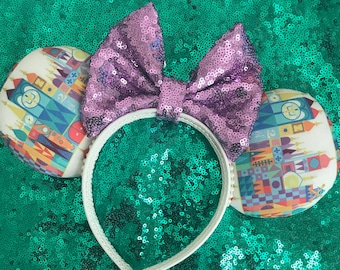 It's a Small World Inspired Mickey Minnie Mouse Ears