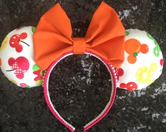 Summertime Fruit Bright Minnie / Mickey Mouse Ears