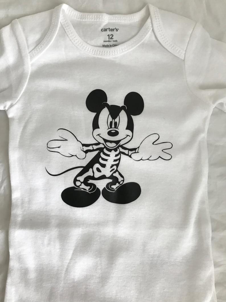 321b03b31 Disney Halloween Skeleton Mickey Shirt tank Adult baby child | Etsy