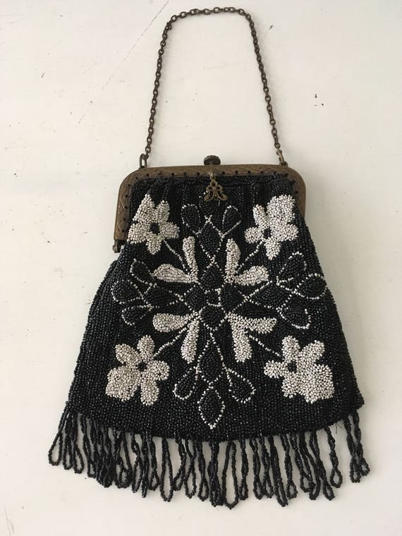 1920's -1930's Micro Beaded Purse - image 1