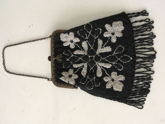1920's -1930's Micro Beaded Purse - image 2