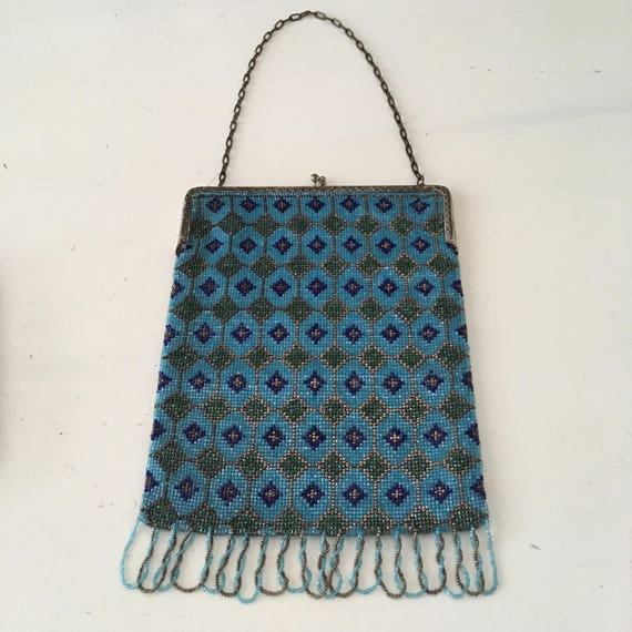 1920's -1930's Large Beaded Purse