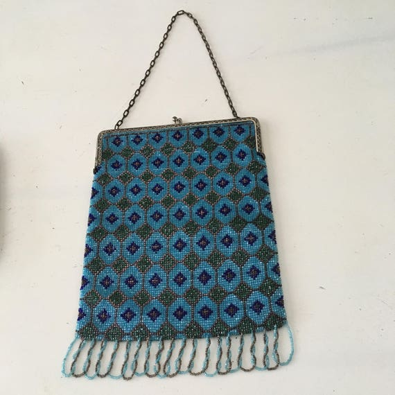 1920's -1930's Large Beaded Purse - image 2