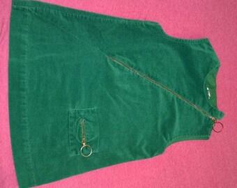 Vintage Green Corduroy Jumper **FREE SHIPPING**