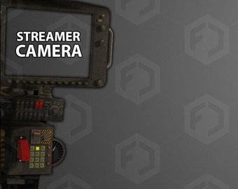 Mech Cockpit Animated Overlay / Sidebar Assets for Twitch or Youtube