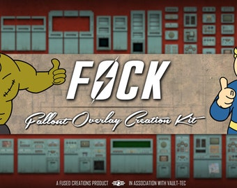Fallout Overlay Creation Kit - Assets for Twitch or Youtube