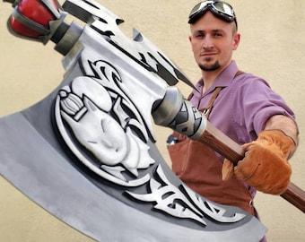 FFXIV Warrior - Malignant Moggle Mogaxe 3D Print Files