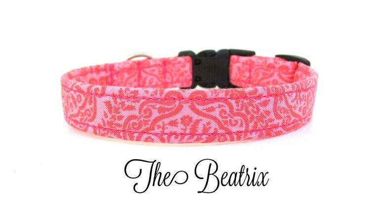 Spring Dog Collar Pink Dog Collar The Beatrix Flower Sold Separately Garden Dog Collar Floral Dog Collar
