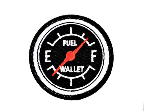 Embroidered Fuel Motorcycle Gift for Biker Boyfriend Under 10 Dollars Patch